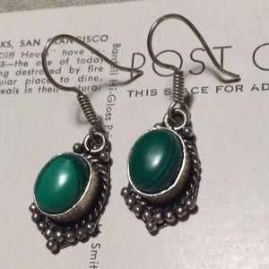 Jewelry - Green Stone Dangle Earrings
